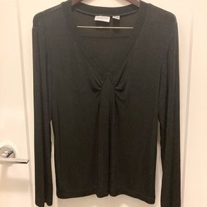 CHICO'S Travellers Top w/ Ruching Wrinkle Free
